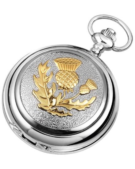 'Thistle' Quartz Pocket Watch with Chain